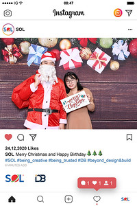 Dịch vụ in ảnh lấy liền & cho thuê photobooth tại sự kiện tiệc giáng sinh của SOL | Instant Print Photobooth Vietnam at SOL Christmas