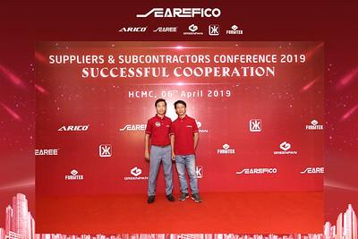 Dịch vụ in ảnh lấy liền & cho thuê photobooth tại sự kiện hội thảo của Searefico | Instant Print Photobooth Vietnam at Searefico Conference