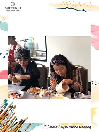 Dịch vụ in ảnh lấy liền & cho thuê photobooth tại sự kiện Lớp học vẽ của khách sạn Sheraton | Instant Print Photobooth Vietnam at Sheraton's Painting Class