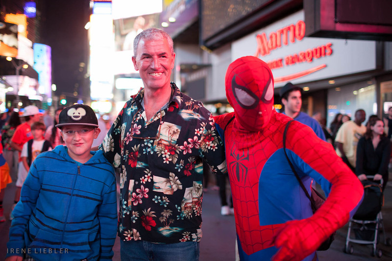 Spiderman makes friends