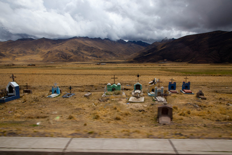 """""""Street Scenes"""" were shot mainly from the bus I was riding. We traveled from Lima to Cusco to Machu Picchu. From city, through countryside, to mountains."""