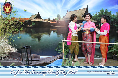 Chụp ảnh lấy liền và in hình lấy liền từ photobooth/photo booth tại sự kiện Songkran của Đại Sức Quán Thái Lan tại Việt Nam | Instant Print Photobooth/Photo Booth at Songkran Thai Family Day | PRINTAPHY - PHOTO BOOTH VIETNAM