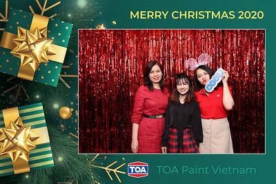 Dịch vụ in ảnh lấy liền & cho thuê photobooth tại sự kiện tiệc giáng sinh của TOA | Instant Print Photobooth Vietnam at TOA Christmas