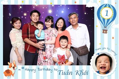 Dịch vụ in ảnh lấy liền & cho thuê photobooth tại sự kiện tiệc sinh nhật bé Tuấn Khôi | Instant Print Photobooth Vietnam at Tuan Khoi's 1st Birthday