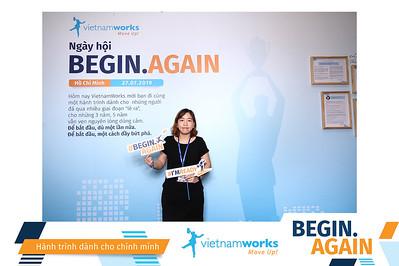 Dịch vụ in ảnh lấy liền & cho thuê photobooth tại sự kiện hội nghị hội thảo VietnamWorks Begin Again   Instant Print Photobooth Vietnam at Vietnamworks Workshop Begin Again