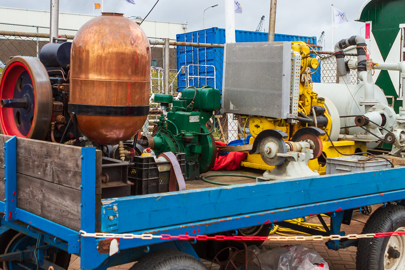 Steam engine demonstration on 'Vlaggetjesdag' 2012