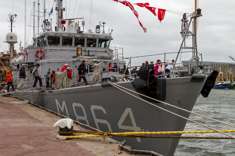 Tour of naval boat on ' Vlaggetjesdag'
