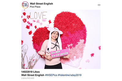 Dịch vụ in ảnh lấy liền & cho thuê photobooth tại sự kiện Valentine của trường Wall Street English | Instant Print Photobooth Vietnam at Wall Street English Valentine