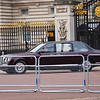 Her Majesty the Queen leaving for the service at Westminster Abbey.