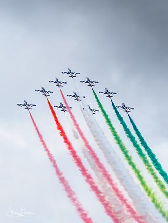 Aermacchi AT-339A 313 Gruppo 'Frecce Tricolor Display Team.