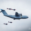 Airbus A400M and The Blades Display Team, Extra 300.