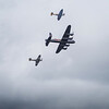 Battle of Britain Memorial Flight - Avro Lancaster Mk.1, Hawker Huricane 11c and Supermarine Spitfire.
