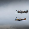 BBMF Hawker Huricane 11c and Supermariane Spitfire.