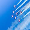 Spanish Air Force Acrobatic Team flying the 7 Casa C-101EB Aviojets.
