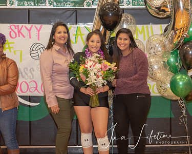 Spring High School Girl's Volleyball Senior Night
