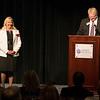 Suzanne Scott, Spirit AeroSystems, and Bill Roy, Wichita Business Journal