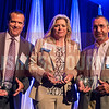 2016 inductees into the 40 Under 40 Hall of Fame. Patrick Goebel, Star Lumber & Supply Co., Shelly Prichard, Wichita Community Foundation, and Dave Wells, Key Construction Inc.