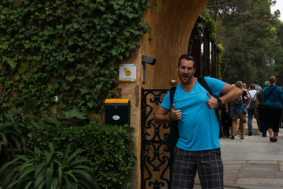 Happy TBEXer embarking on a tour of the Santa Clotilde Gardens in Lloret de Mar