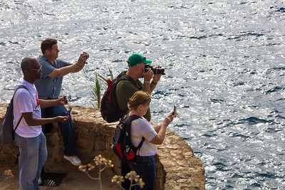 TBEXers photographing the Meditarranan view in Lloret de Mar