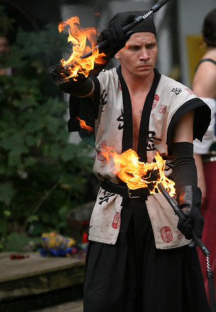 Fire juggler, Kansas City Renaissance Festival