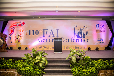 110th FAI (Fédération Aéronautique Internationale) General Conference BALI