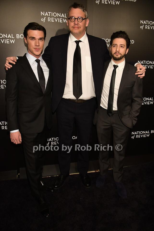 Finn Wittrock, Adam McKay, John Magaro ( The Big Short) photo by Rob Rich/SocietyAllure.com © 2016 robwayne1@aol.com 516-676-3939