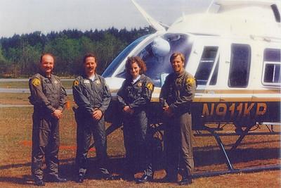 April - 1992 / ASU Expands to 4  / Rick Bell Air 2, Jon Loye Air 3, Lisa Pepin Oberver, Randy Shute Observer