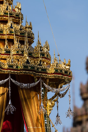 Details of Small Royal Chariot (Rajarot Noi), the Rehearsals for the Royal Funeral Processions for His Majesty King Bhumibol Adulyadej