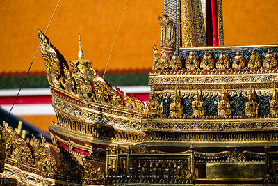 Thep Phanom and details of Phra Maha Phichai Ratcharot (The Great Victory Chariot), the Rehearsals for the Royal Funeral Processions for His Majesty King Bhumibol Adulyadej