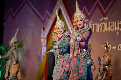 "Lakhon Duekdamban Dance Drama ""Sang Silpchai Falls into a Ravine – Indra Rescues Sang Silpchai"""