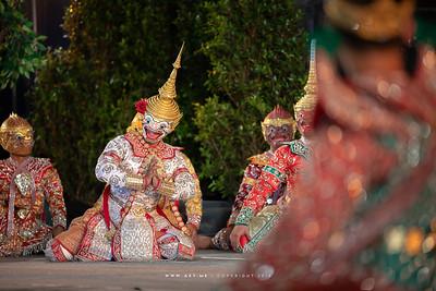 "Khon Masked Drama ""Hanuman Charn Kamhaeng"" by Khon Sala Chalerm Krung, Songkran Festival"