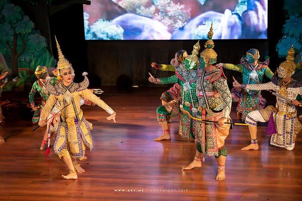"Khon performance ""Hanuman Presents the Ring"""