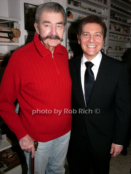 Leroy Neiman, Michael Feinstein<br /> photo by Rob Rich © 2008 robwayne1@aol.com 516-676-3939
