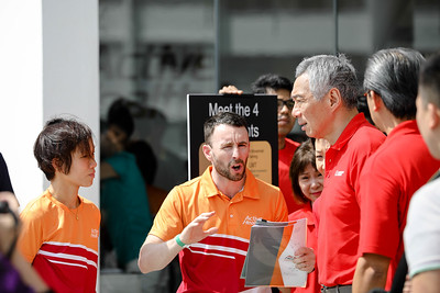 PM Lee visitng Residents being briefed during aqua exercises at Active Health Lab Launch, taken on 4th Feb 2018 at Heartbeat@Bedok, Singapore. Photo by Sanketa Anand/SportSG