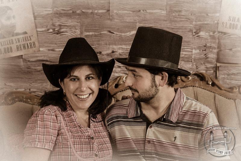 Desert Stomp - the Wild Wild West photobooth  by Light eX Machina, 2014.