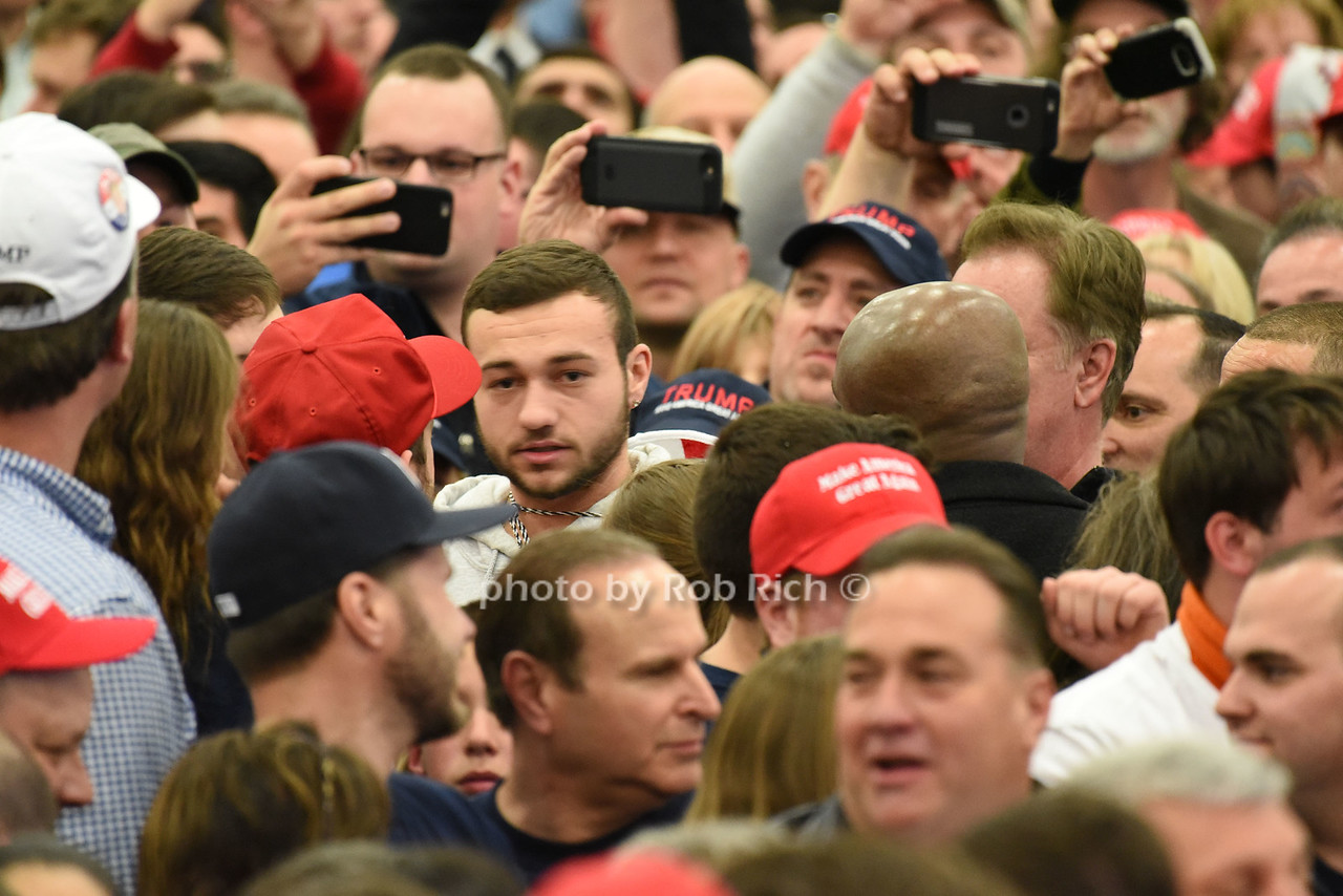 Trump protester who was removed from the rally (beard)photo by Rob Rich/SocietyAllure.com © 2016 robwayne1@aol.com 516-676-3939