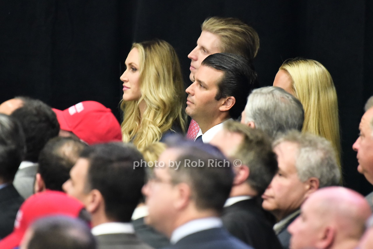 Lara Trump, Eric Trump, Donald Trump Jr.photo by Rob Rich/SocietyAllure.com © 2016 robwayne1@aol.com 516-676-3939