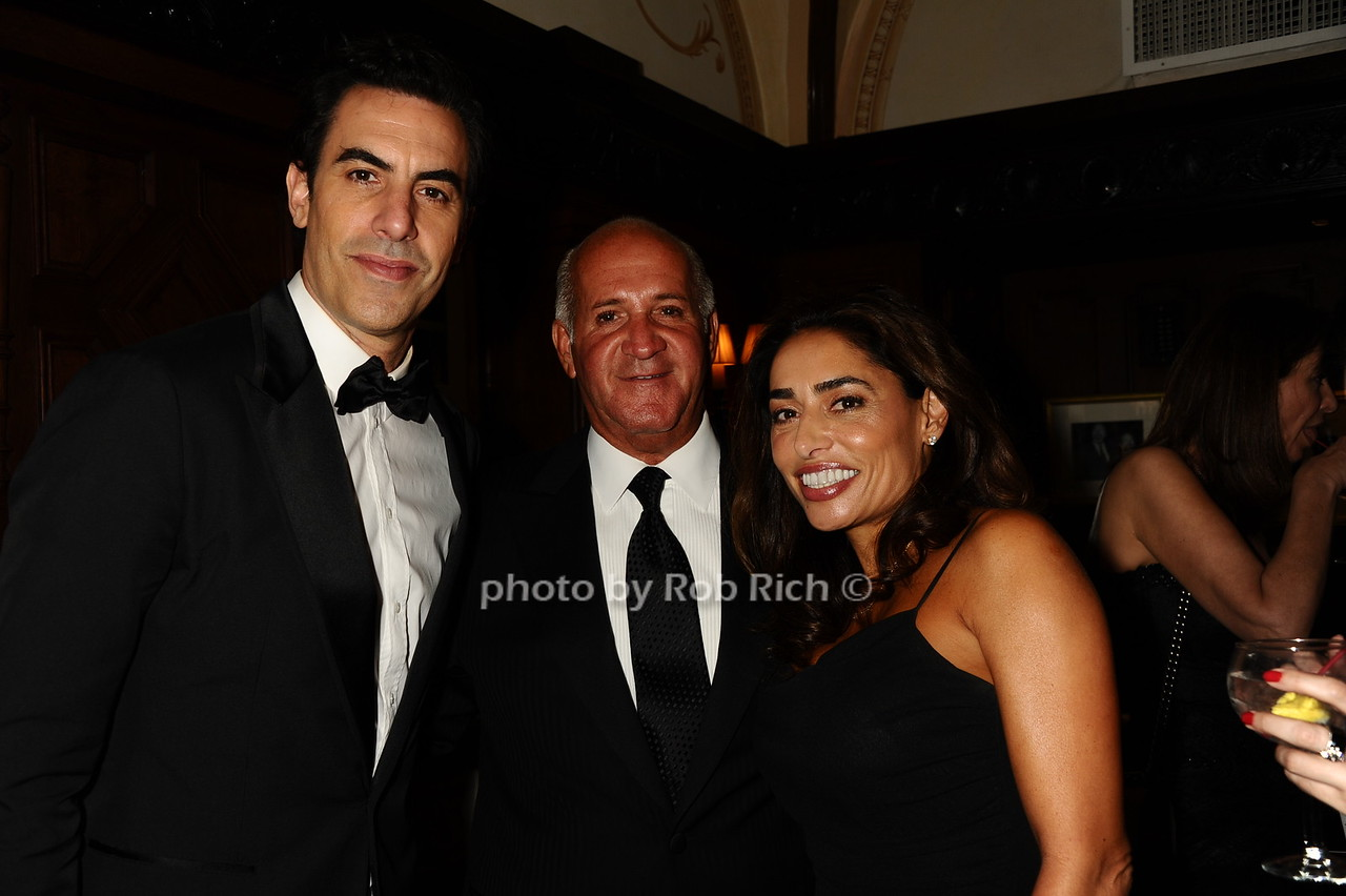 "Sacha Baron Cohen, Ronnie ""Copa"" Nistico, Lynda  photo by Rob Rich/SocietyAllure.com © 2016 robwayne1@aol.com 516-676-3939"