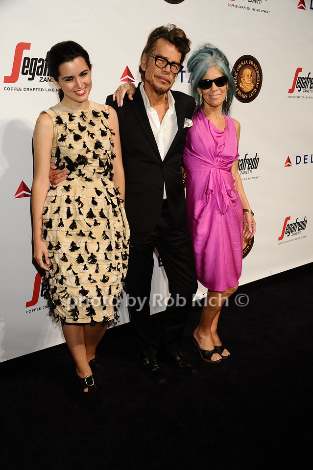 David Johansen with daughter and wife