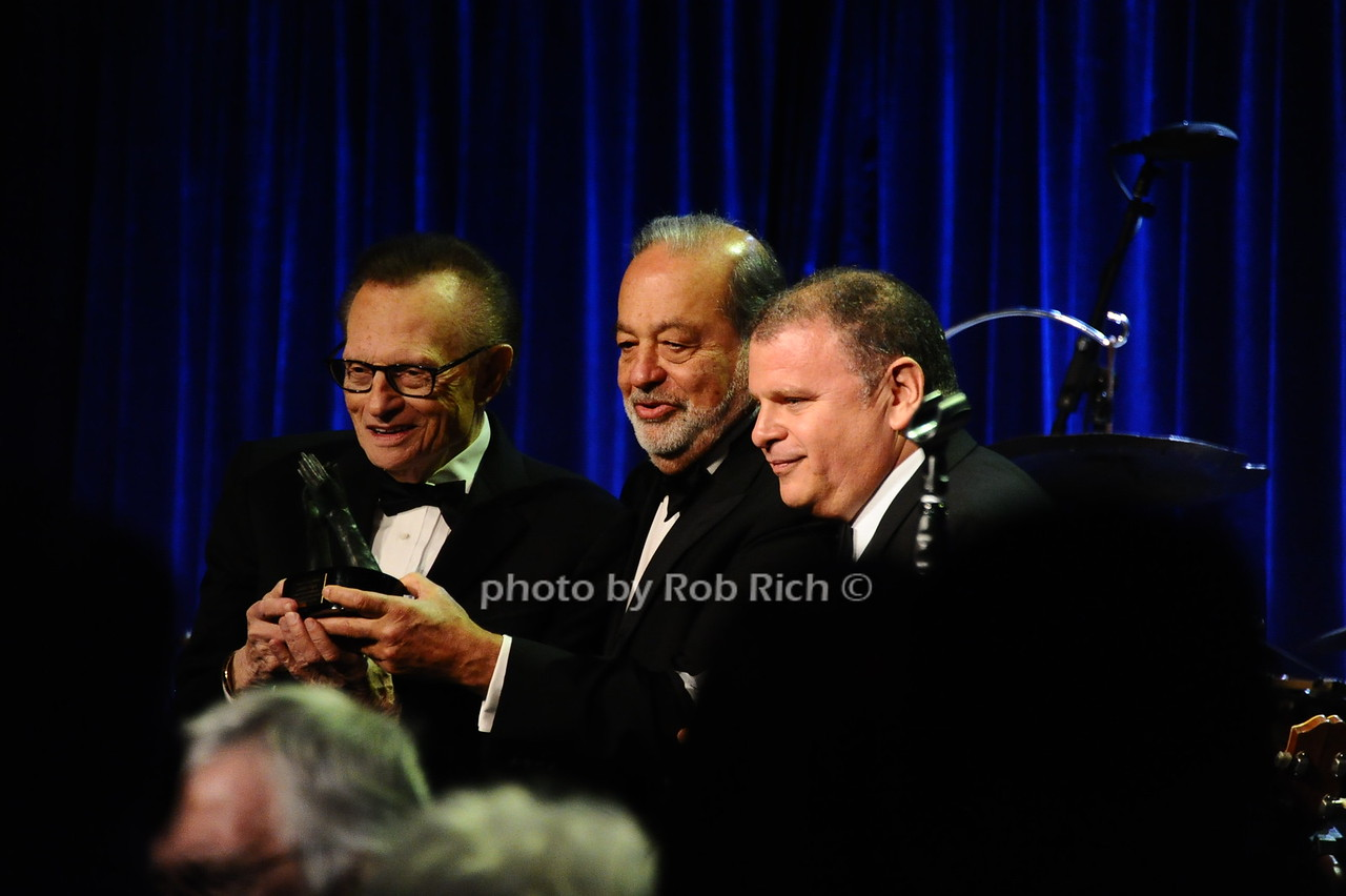 Larry King, Carlos Slim, guest