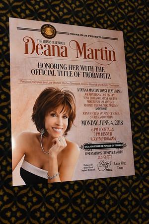 Deana Martin Toast at the Friar's Club