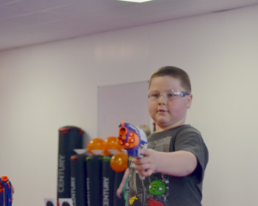 April 2018 - Caden's Birthday Party - Nerf guns