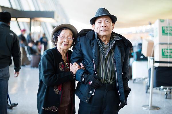 Nanay & Tatay at the Airport