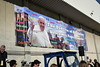 Papal welcoming banner<br /> photo by Rob Rich/SocietyAllure.com © 2015 robwayne1@aol.com 516-676-3939