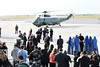 Helicopter carrying Pope Francis arrives at Kennedy Ariport <br /> photo by Rob Rich/SocietyAllure.com © 2015 robwayne1@aol.com 516-676-3939
