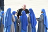 Most Rev. Nicholas DiMarzio<br /> Bishop of Brooklyn<br /> speaking with nuns before Pope Francis' arrival<br /> <br /> photo by Rob Rich/SocietyAllure.com © 2015 robwayne1@aol.com 516-676-3939