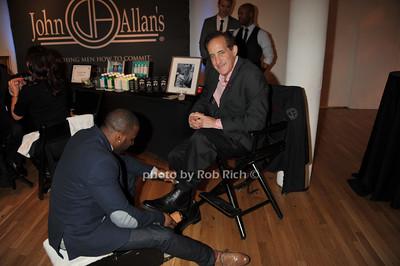 David Allen gets a shine from John Allan's photo by Rob Rich/SocietyAllure.com © 2014 robwayne1@aol.com 516-676-3939