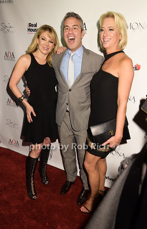 Ramona Singer, Andy Cohen, Dorinda Medley photo by Rob Rich/SocietyAllure.com © 2015 robwayne1@aol.com 516-676-3939