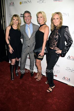 Ramona Singer, Andy Cohen, Dorinda Medley, Sonja Morgan photo by Rob Rich/SocietyAllure.com © 2015 robwayne1@aol.com 516-676-3939