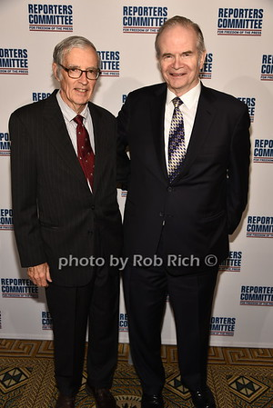 Jim Ottaway, Paul Steiger photo by Rob Rich/SocietyAllure.com ©2017 robrich101@gmail.com 516-676-3939